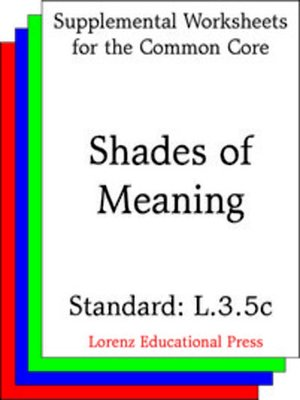 cover image of CCSS L.3.5c Shades of Meaning