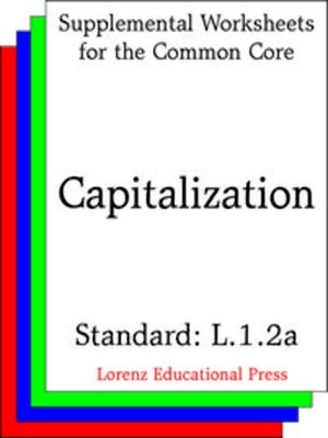 cover image of CCSS L.1.2a Capitalization
