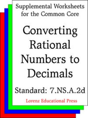 cover image of CCSS 7.NS.A.2d Converting Rational Numbers to Decimals