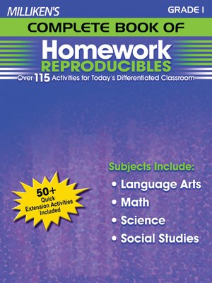 cover image of Milliken's Complete Book of Homework Reproducibles - Grade 1