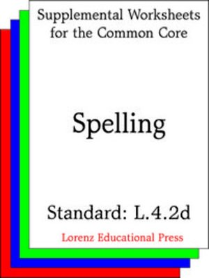 cover image of CCSS L.4.2d Spelling