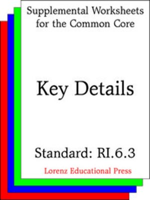 cover image of CCSS RI.6.3 Key Details