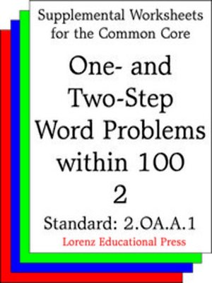 cover image of CCSS 2.OA.A.1 One- and Two-Step Word Problems within 100 2