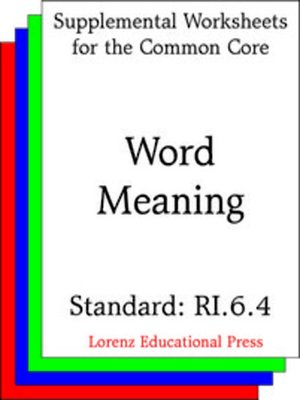 cover image of CCSS RI.6.4 Word Meaning