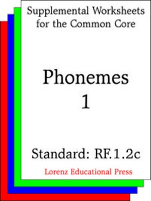 cover image of CCSS RF.1.2c Phonemes 1