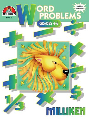 cover image of Word Problems, Grades 4-6