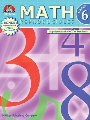 cover image of Math Reproducibles - Grade 6