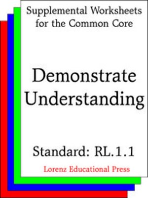 cover image of CCSS RL.1.1 Demonstrate Understanding