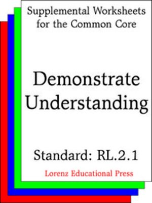 cover image of CCSS RL.2.1 Demonstrate Understanding