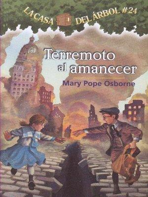 cover image of Terremoto al amancer
