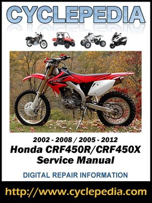 honda crf450r crf450x 2002 2009 service manual by cyclepedia press rh overdrive com Honda 450R Honda 450R