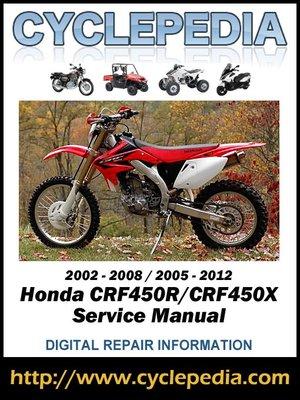 cover image of Honda CRF450R CRF450X 2002-2009 Service Manual