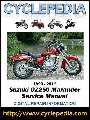 %7B0F6CF6D5 3585 4490 AC6C 3F57CAFC1A12%7DImg400 suzuki gz250 marauder 1999 2011 service manual by cyclepedia press Suzuki GZ250 Bobber at mifinder.co