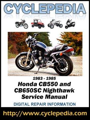 cover image of Honda CB650SC Nighthawk 1983-1985 Service Manual