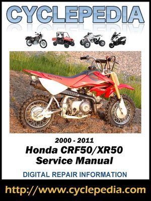 cover image of Honda CRF50 and XR50 2000-2010 Service Manual