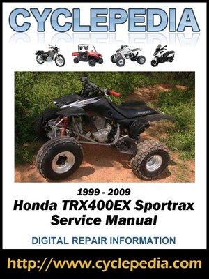 cover image of Honda TRX400EX Fourtrax 1999-2009 Service Manual