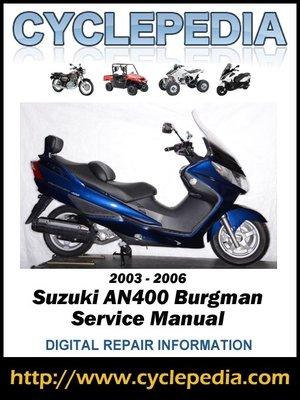 cover image of Suzuki AN400 Burgman 2003-2006 Service Manual
