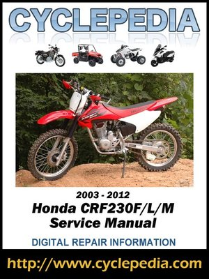cover image of Honda CRF230F/L/M 2003-2012 Service Manual