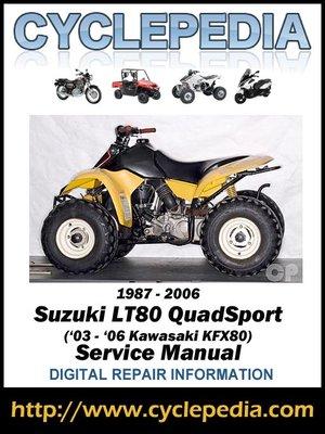 cover image of Suzuki LT80 QuadSport 1987-2006 (Kawasaki KFX80 '03-'06) Service Manual