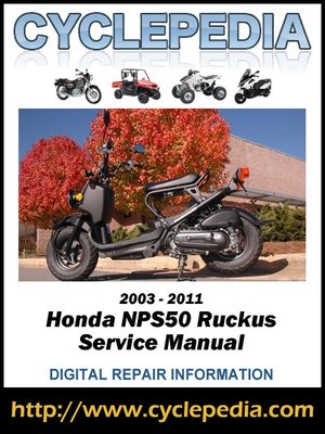 cover image of Honda NPS50 Ruckus Scooters 2003-2011 Service Manual