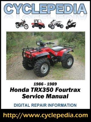 honda trx350 fourtrax 4wd 1986 1999 service manual by cyclepedia rh overdrive com honda trx 350 manual pdf honda trx 350 shop manual