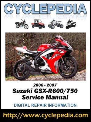 cover image of Suzuki GSX-R600/750 2006-2007 Service Manual