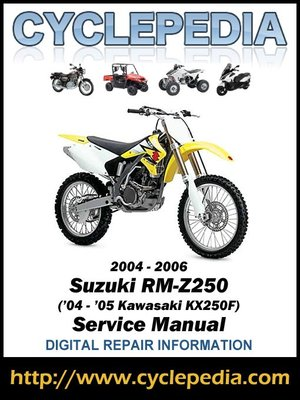 suzuki rm z250 04 05 kawasaki kx250f 2004 2006 service manual by rh overdrive com Side Panels for 2005 Kawasaki KX250F Side Panels for 2005 Kawasaki KX250F
