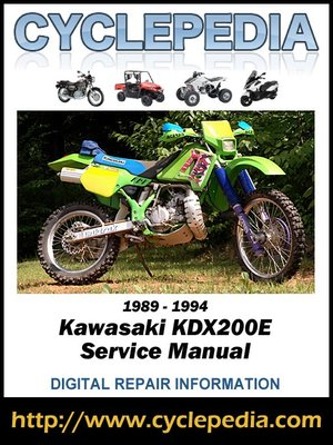 cover image of Kawasaki KDX200E 1989-1994 Service Manual