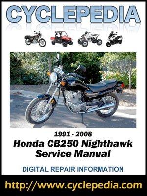 cover image of Honda CB250 Nighthawk 1991-2008 Service Manual