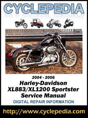 harley davidson xl883 xl1200 sportster 2004 2006 service manual by rh overdrive com 2004 Harley Sportster Colors 2004 Harley-Davidson Sportster 1200 Custom