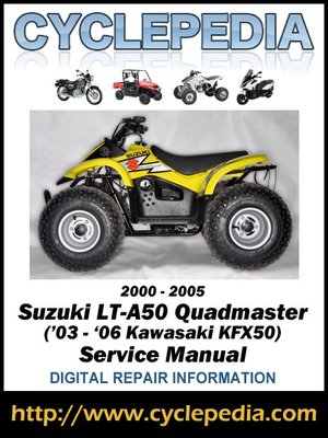 suzuki lt a50 quadmaster kawasaki kfx50 03 06 2000 2005 service rh overdrive com kawasaki kfx 50 owners manual pdf 2005 kawasaki kfx 50 manual