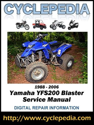 yamaha yfs200 blaster 1988 2006 service manual by cyclepedia press llc overdrive rakuten. Black Bedroom Furniture Sets. Home Design Ideas