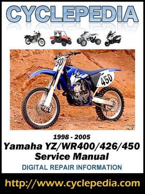 cover image of Yamaha YZ/WR400/426/450 1998-2005 Service Manual