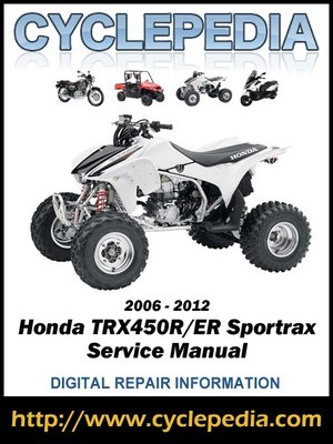 cover image of Honda TRX450ER/TRX450R Sportrax 2006-2012 Service Manual