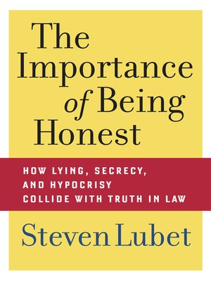 cover image of The Importance of Being Honest