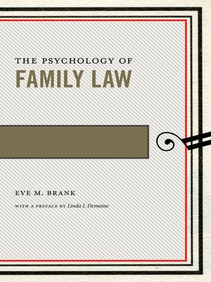 cover image of The Psychology of Family Law