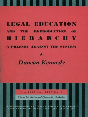 cover image of Legal Education and the Reproduction of Hierarchy