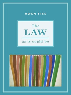 cover image of The Law as it Could Be