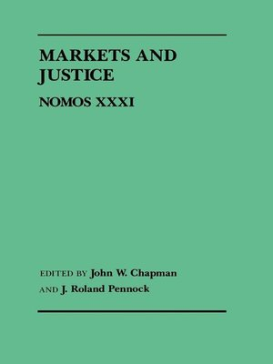 cover image of Markets and Justice