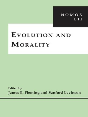cover image of Evolution and Morality