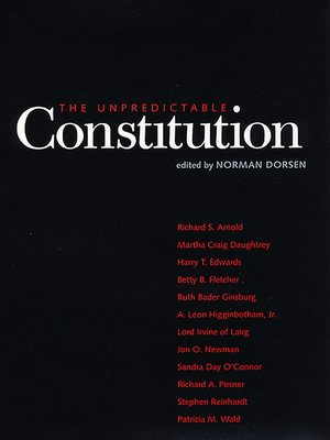 cover image of The Unpredictable Constitution