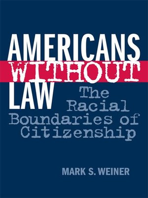cover image of Americans Without Law