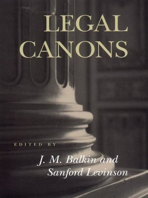 cover image of Legal Canons