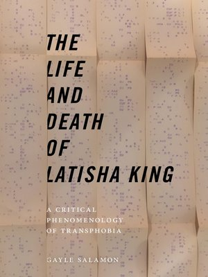 cover image of The Life and Death of Latisha King