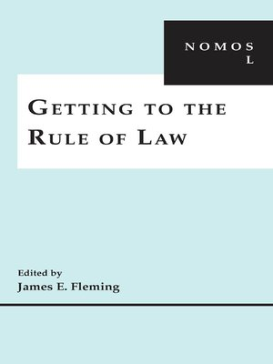 cover image of Getting to the Rule of Law