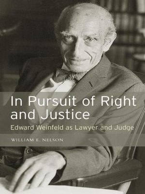 cover image of In Pursuit of Right and Justice