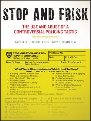 cover image of Stop and Frisk
