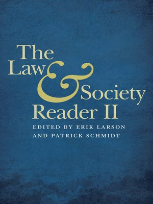 cover image of The Law and Society Reader II