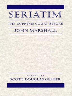 cover image of Seriatim