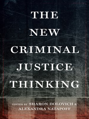 cover image of The New Criminal Justice Thinking